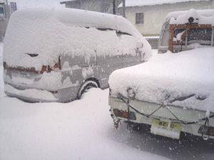 雪が積もった画像